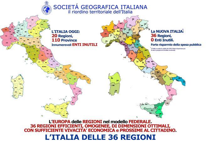 Cartina Dell Italia Con Tutte Le Regioni.Addio Valle D Aosta Nella Nuova Cartina D Italia Disegnata