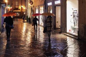 pioggia - mal tempo - via de Tillier
