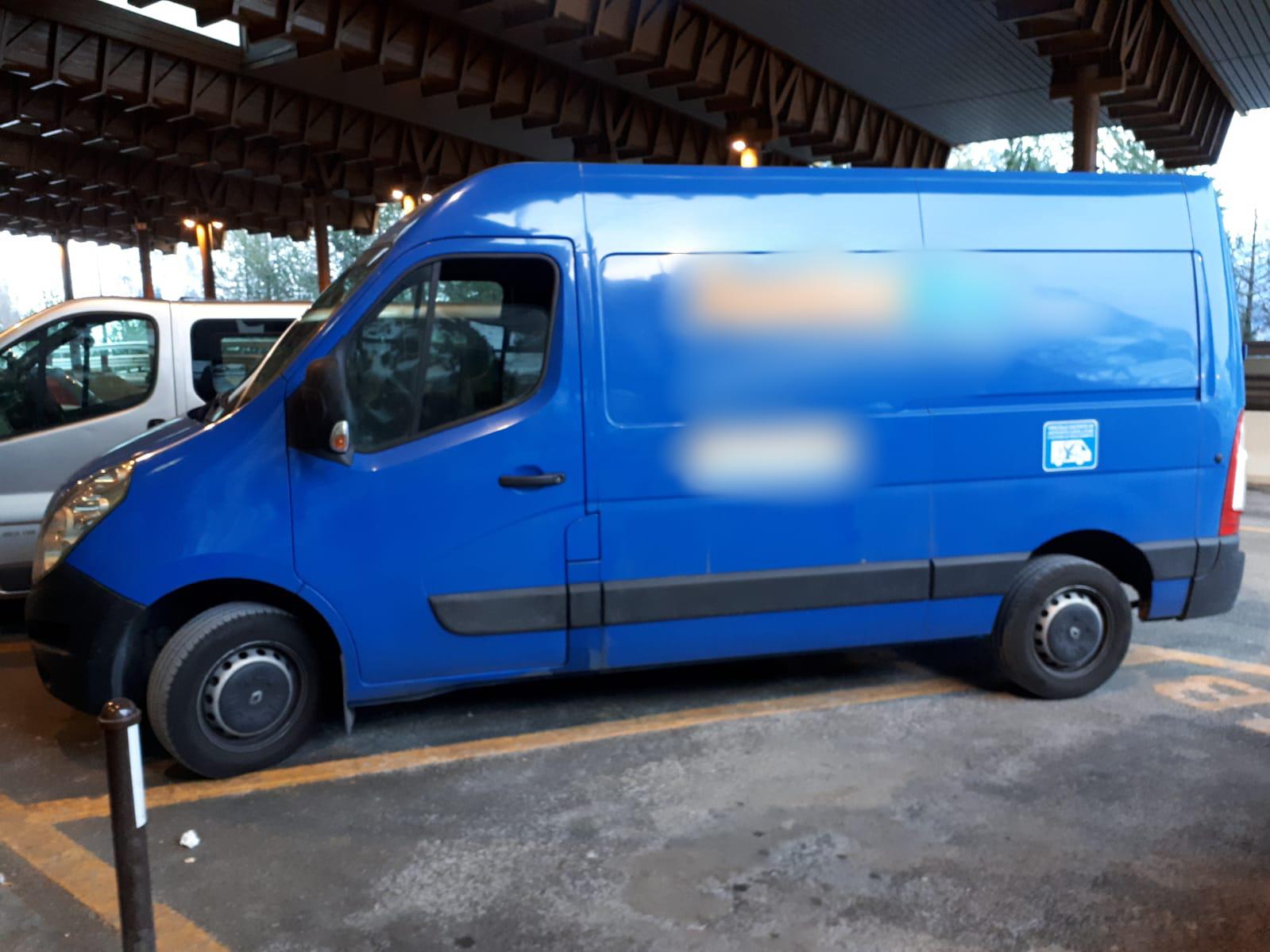 Furgone Polizia Monte Bianco
