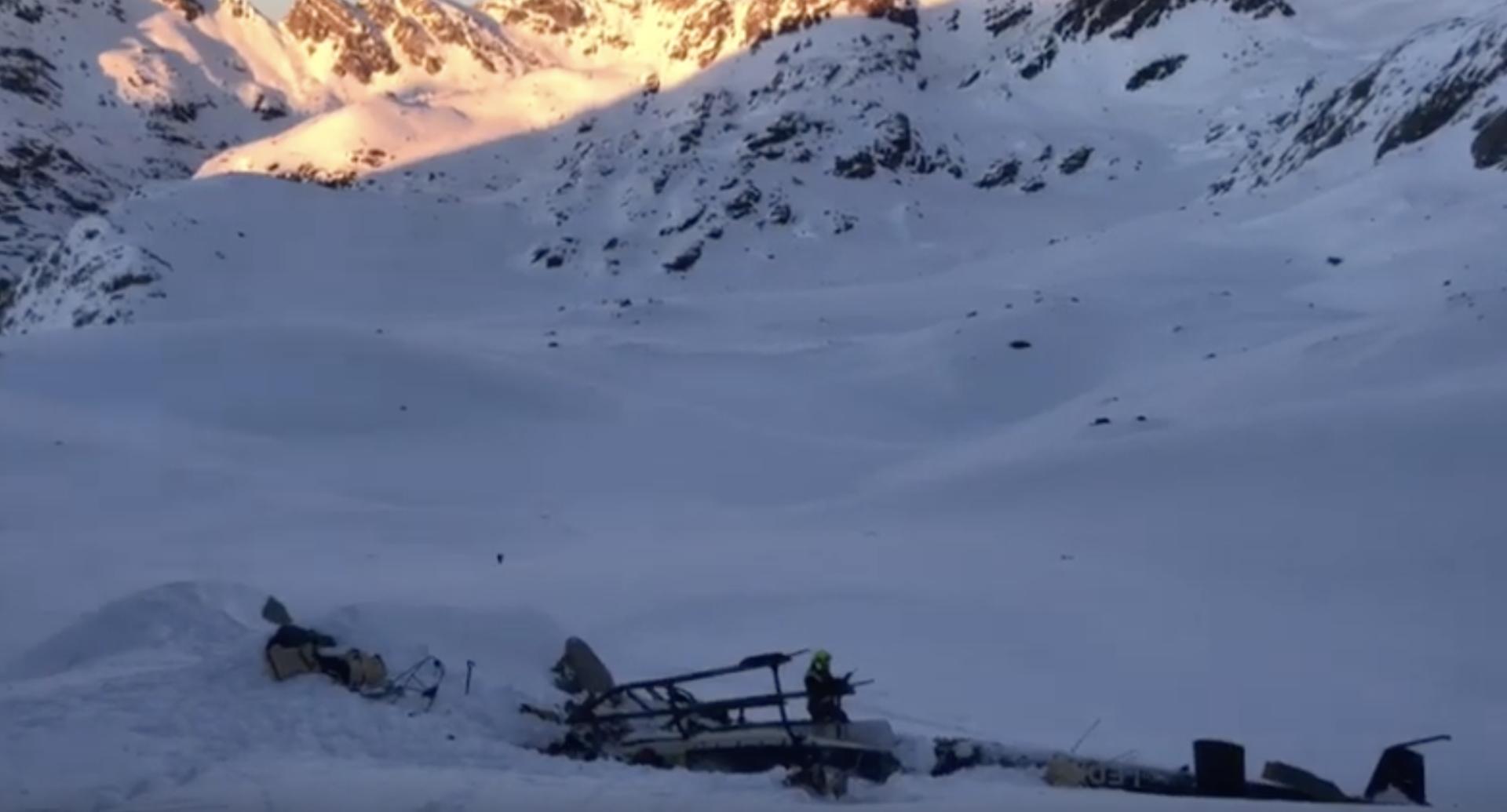 Scontro fra aereo e elicottero a La Thuile