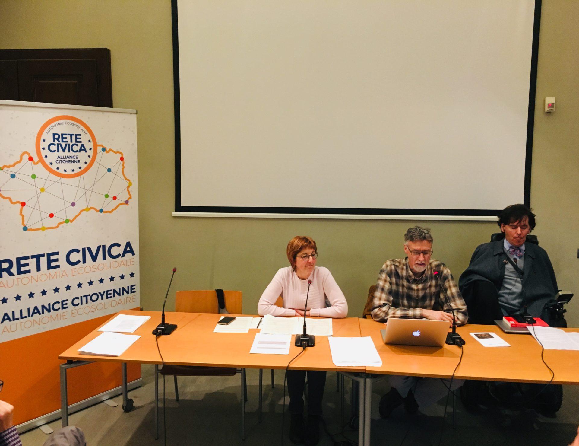 Rete Civica - Chiara Minelli, Loris Sartore e Alberto Bertin
