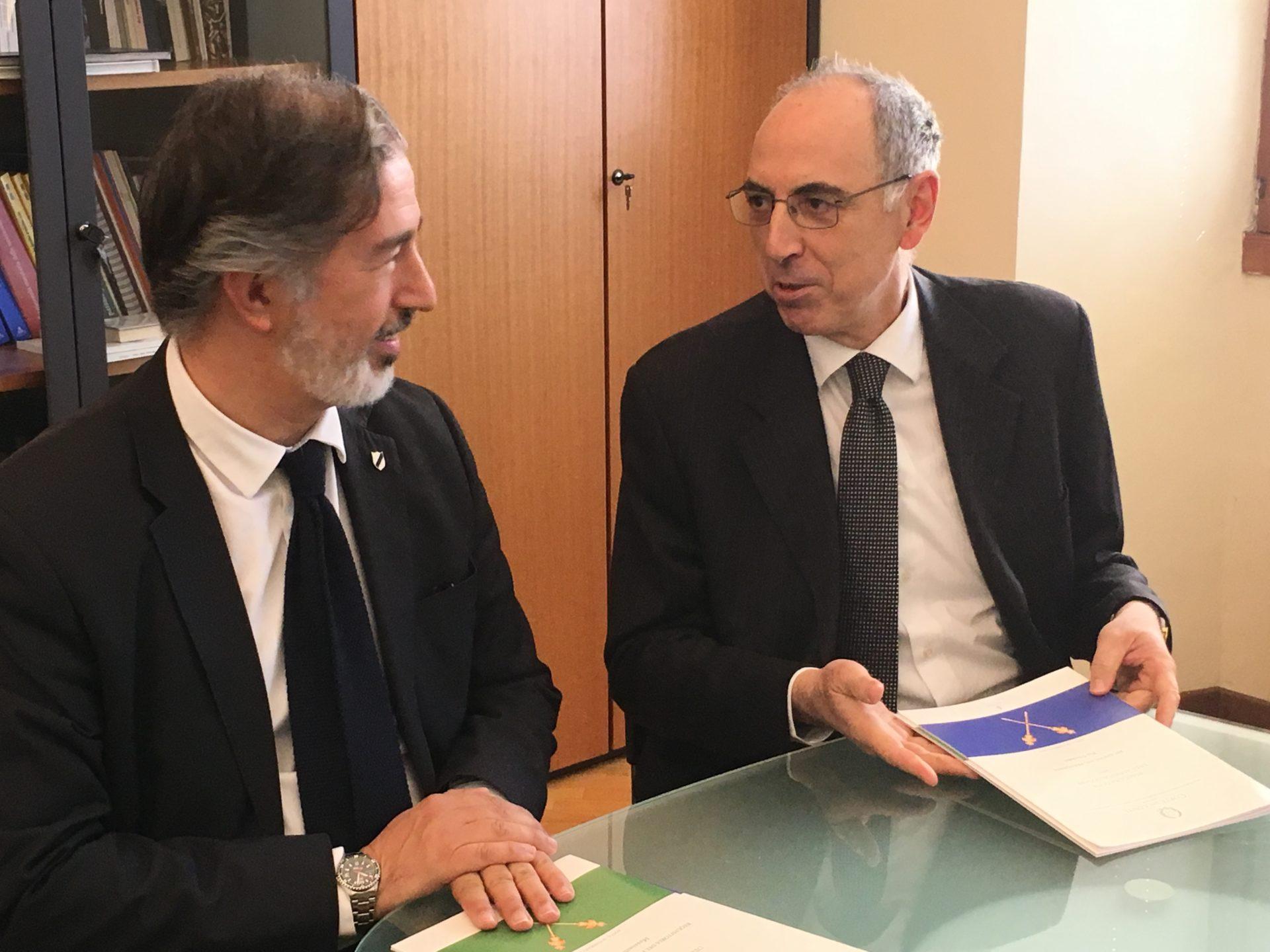 Massimiliano Atelli e Pio Silvestri