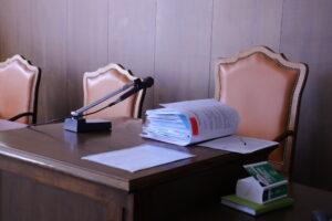 Scranno Tribunale fascicolo