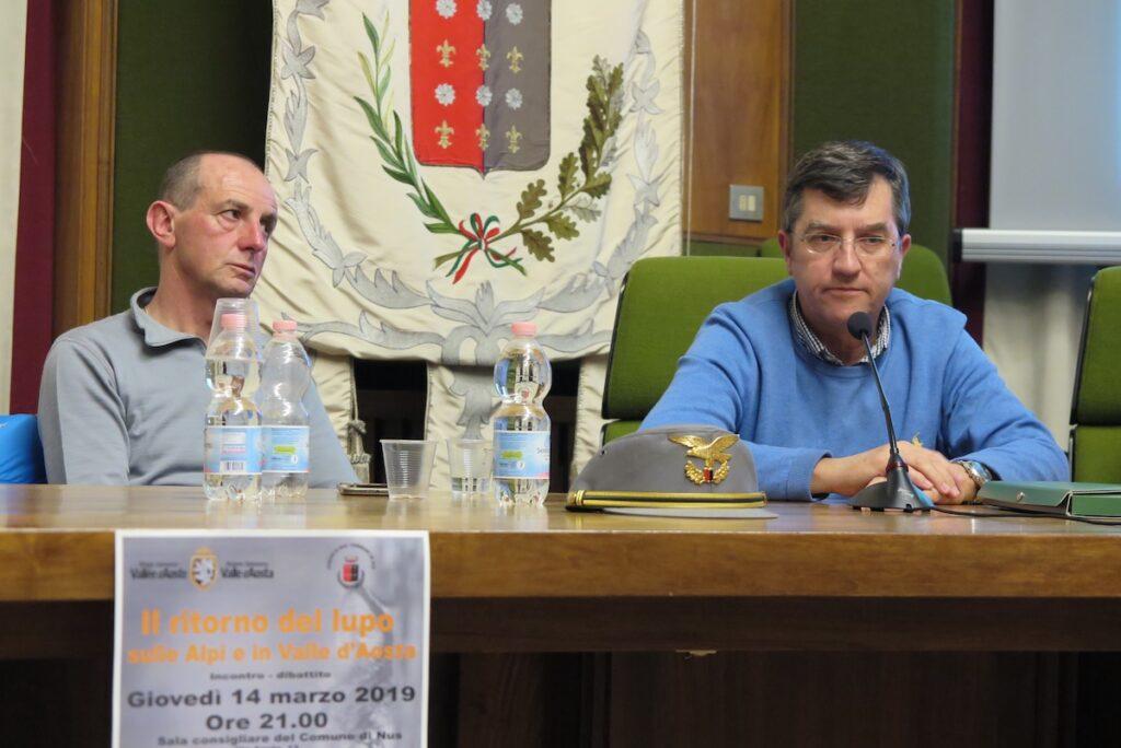 Franco Trèves sovrintendente forestale e Paolo Oreiller dirigente regionale Dipartimento risorse naturali Assessorato Ambiente Risorse naturali e Corpo forestale