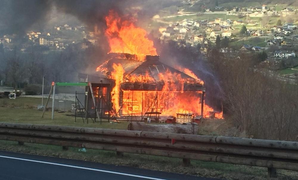 Incendio Gignod