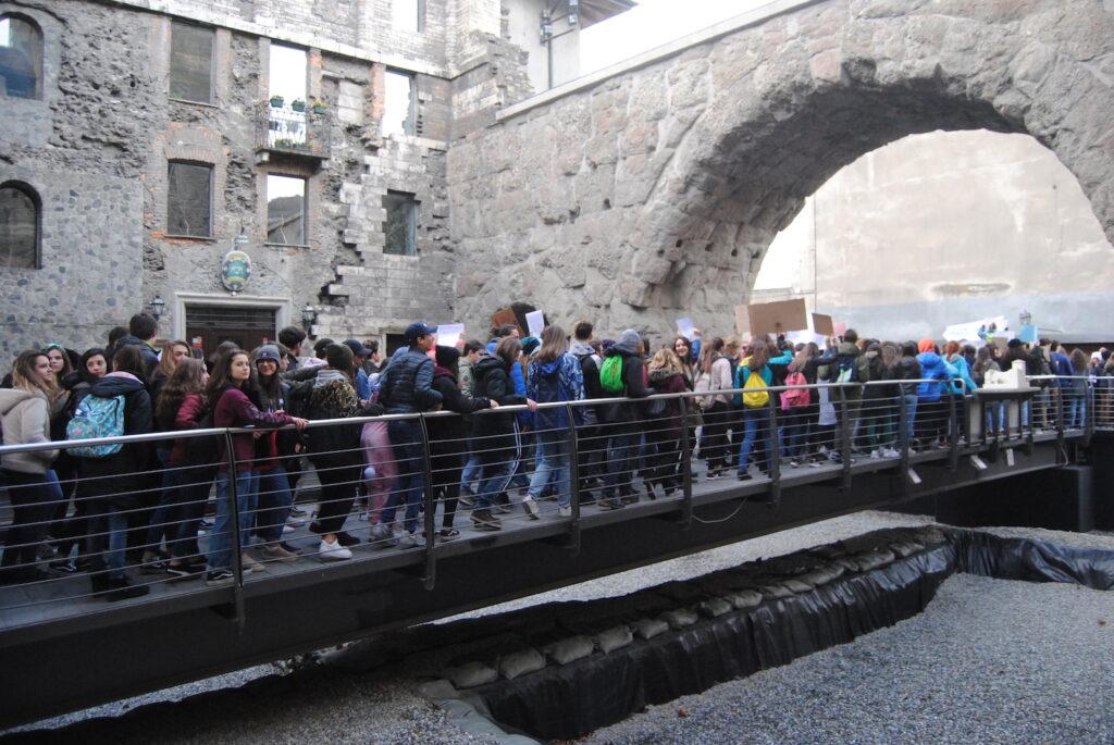 Manifestazione FridaysForFuture ad Aosta