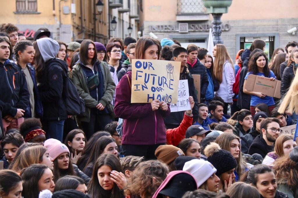 Manifestazione #FridaysForFuture ad Aosta