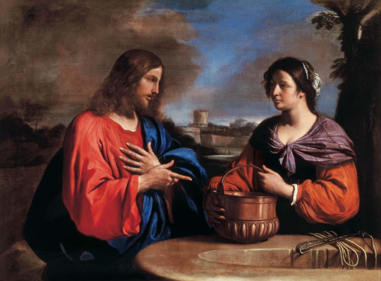 cristo samaritana guercino