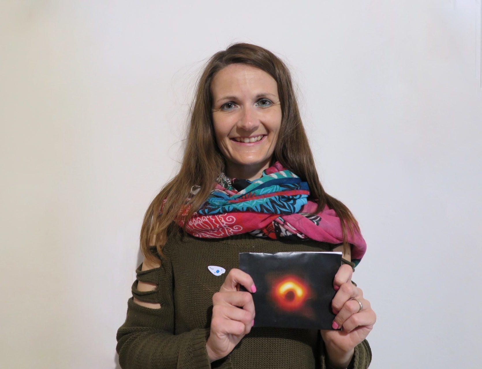 La ricercatrice valdostana Elisabetta Liuzzo e l'immagine del buco nero