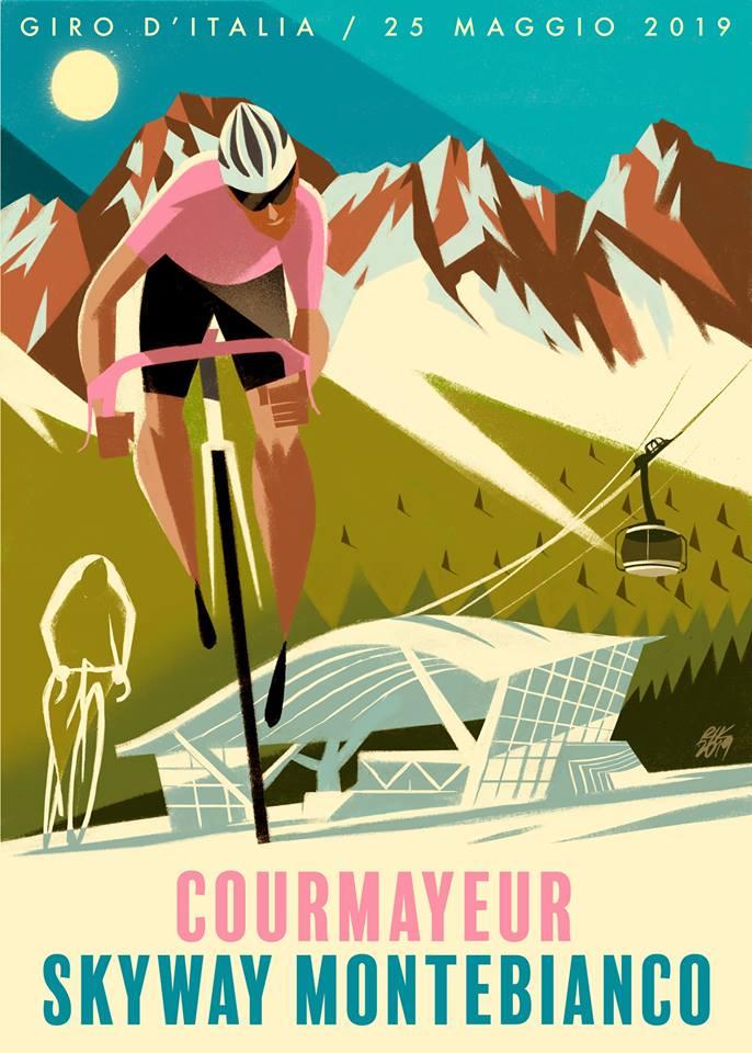 Locandina Giro dItalia Courmayeur