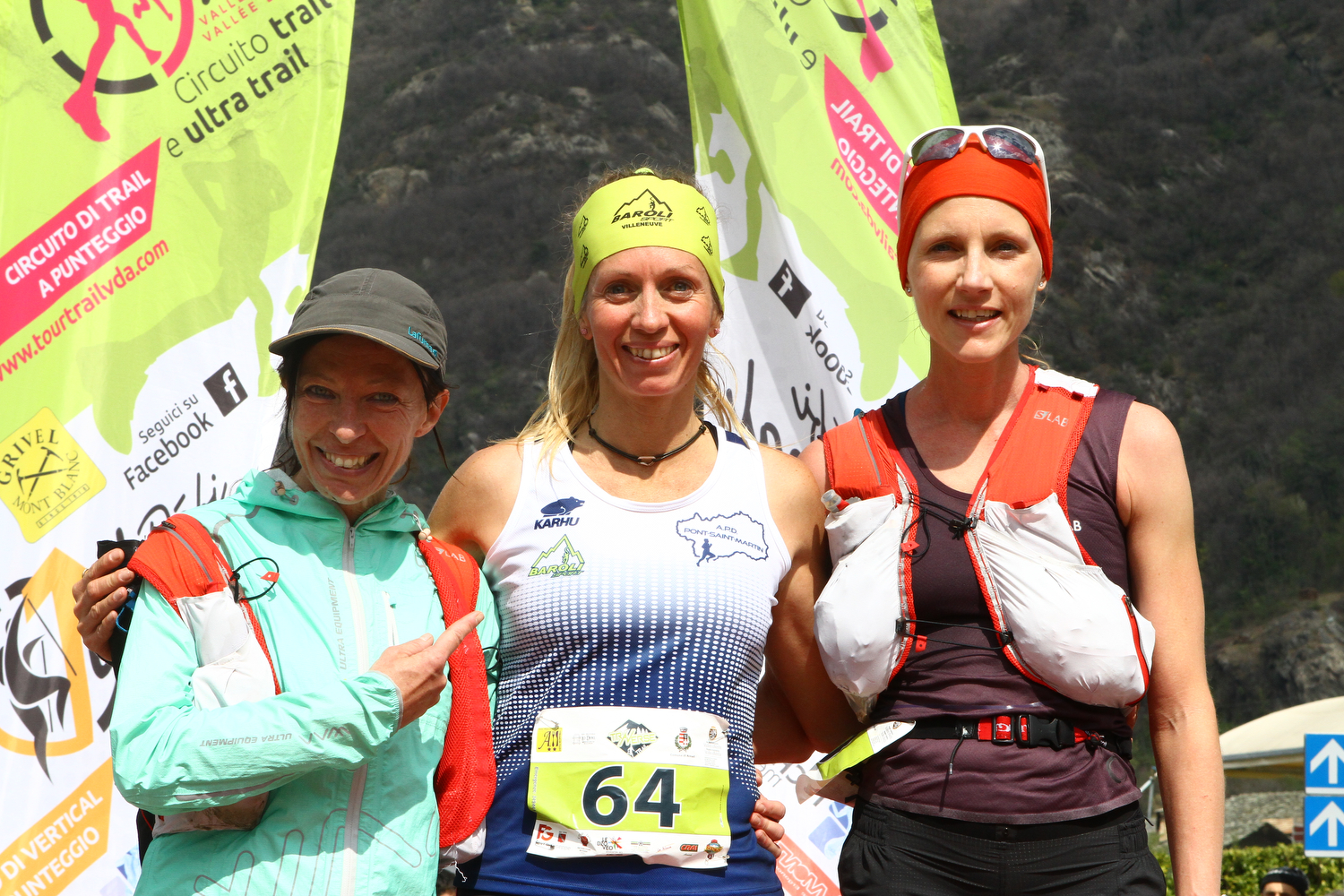 Podio femminile Traverse Trail Sonia Glarey Enrica Perico Sonia Locatelli