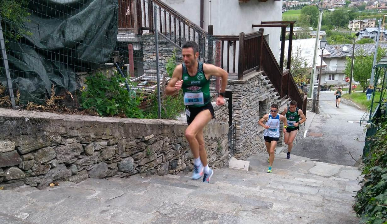 Alessandro Benati nei pressi del traguardo volante