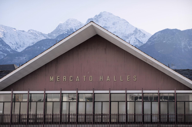 Mercato coperto di Aosta facciata