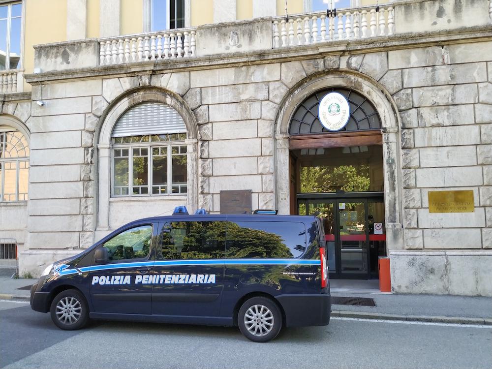 Il palazzo di giustizia di Aosta.