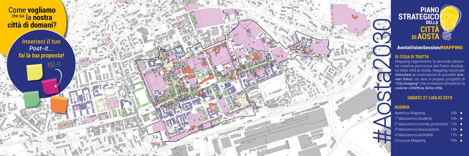 Pannello piazza Porta Praetoria lato piazza