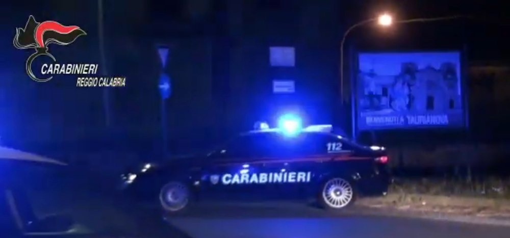 Fotogramma da video arresti carabinieri