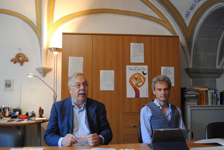 Pietro Passerin d'Entrèves e Gianni Nuti Presidente e Segretario generale della Fondazione comunitaria