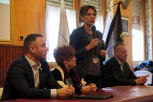 Andrea Manfrin, Marialice Boldi, Nicoletta Spelgatti ed Etienne Andrione - Assemblea della Lega Vallée d'Aoste