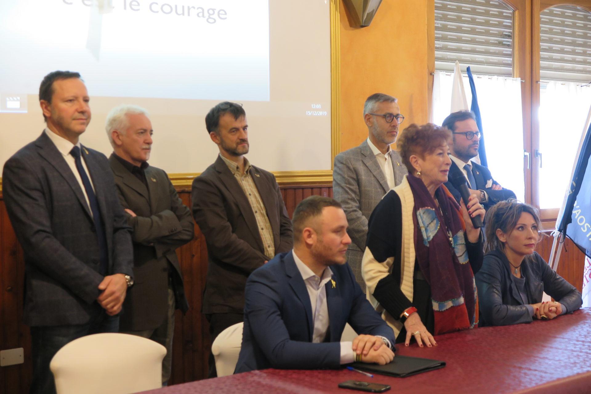 I Consiglieri regionali della Lega Vallée d'Aoste