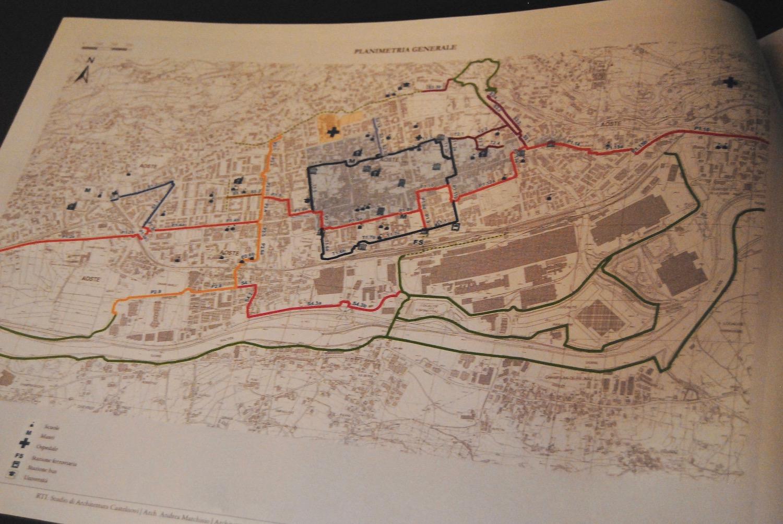 Il progetto preliminare Aosta in Bicicletta