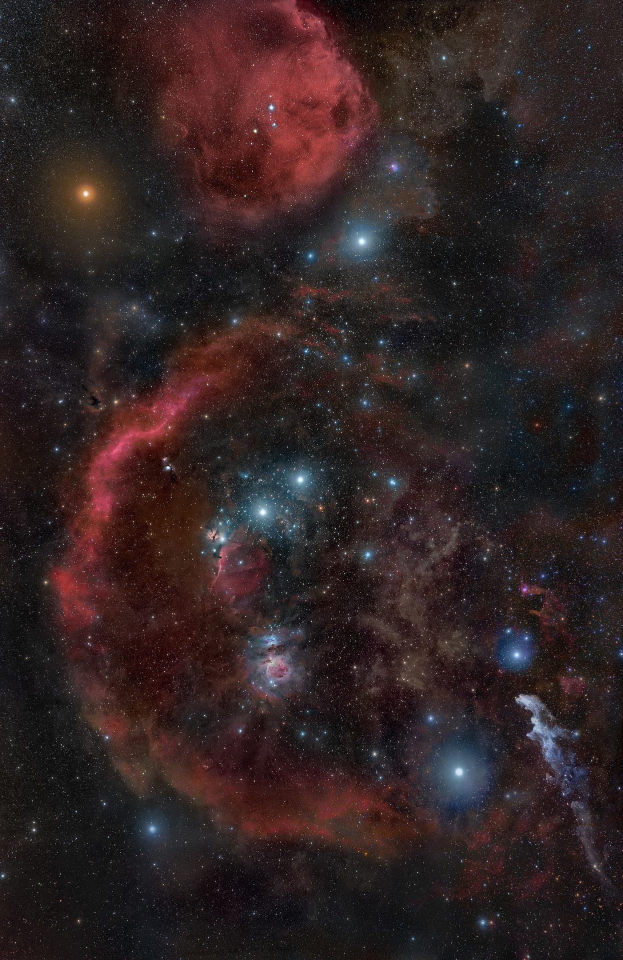 La costellazione di Orione: Betelgeuse è la stella arancio-rossastra in alto a sinistra [R. Bernal Andreo]