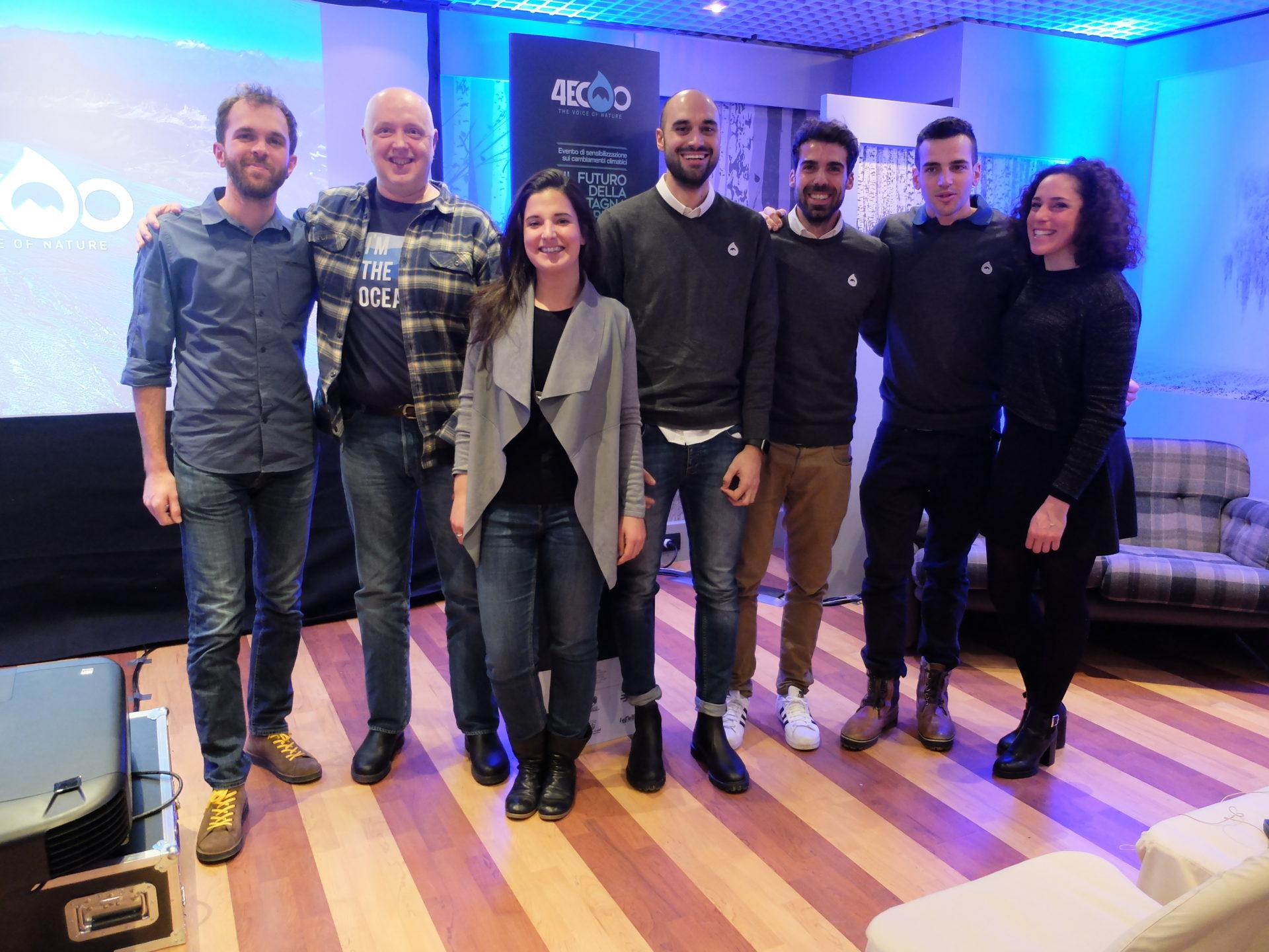 fondatori e relatori con lambasciatrice Federica Brignone