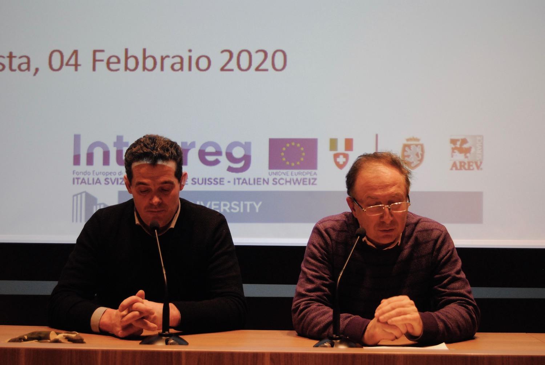 Da sx il Presidente ed il direttore Arev Dino Planaz e Edi Henriet