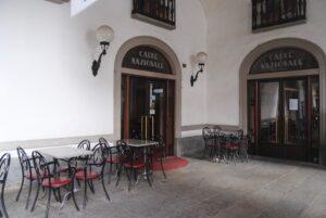 Il Caffè Nazionale in piazza Chanoux ad Aosta