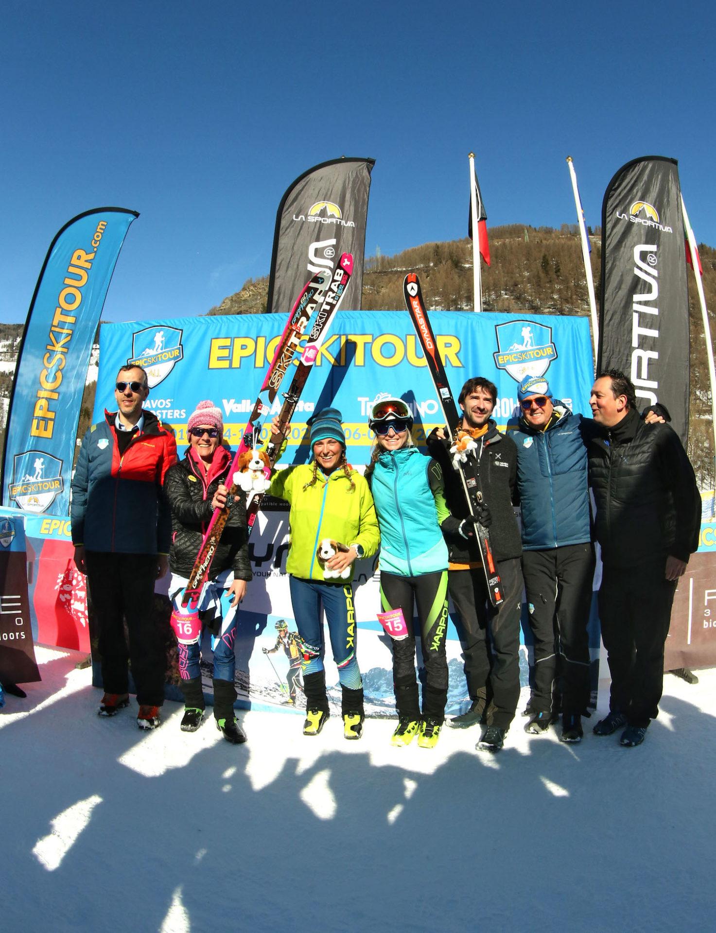 podio femminile Epic Ski Tour