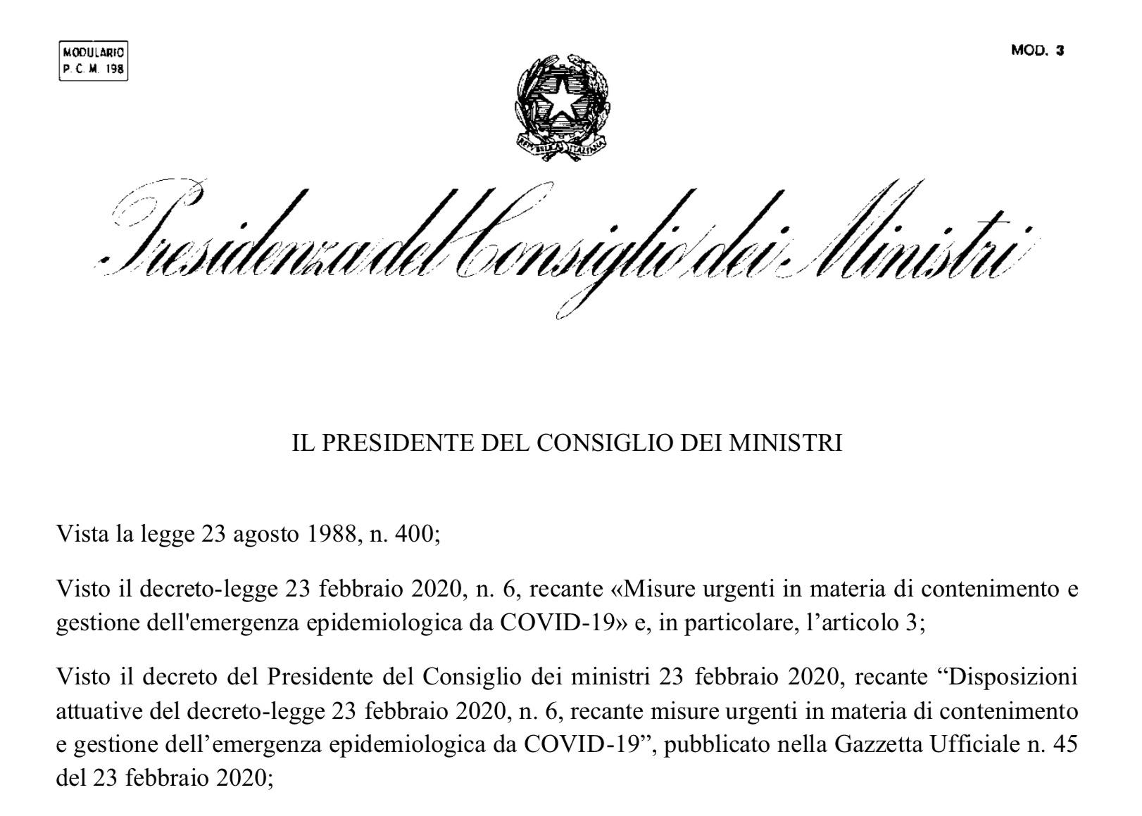 Decreto Ministri