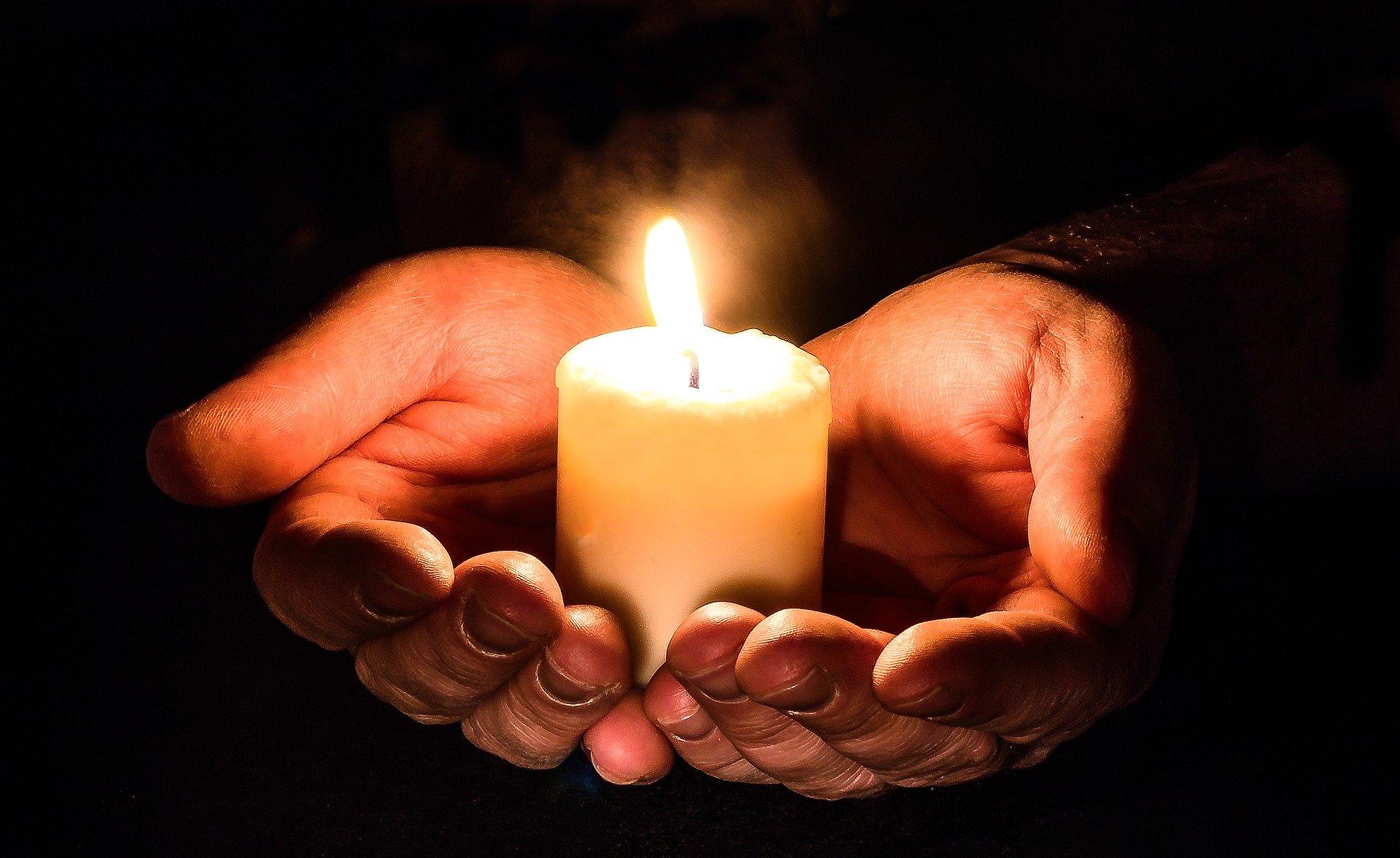 candela, preghiera