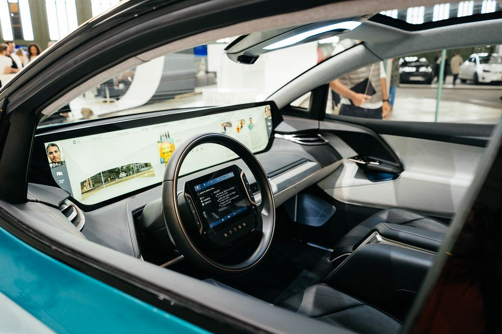 interior of byton m byte concept self driving car
