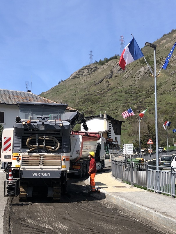 I lavori Anas sulla statale 26 a La Thuile