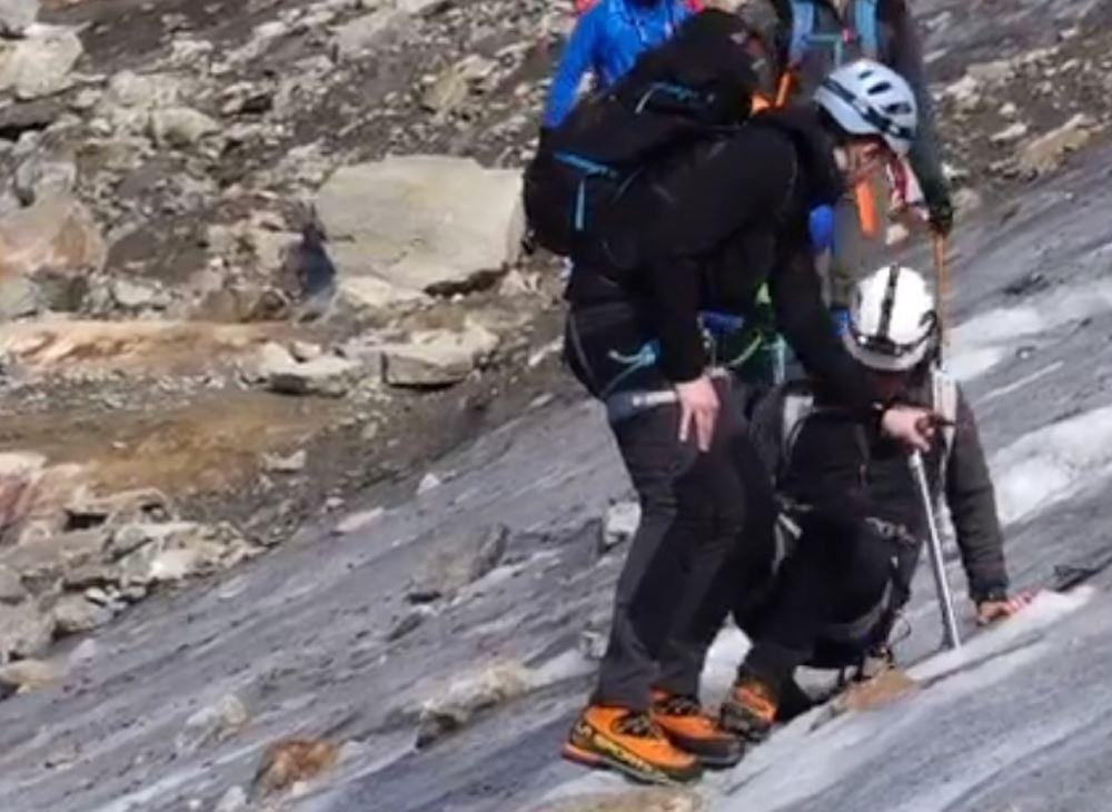 Un frame del video pubblicato da Davide Camisasca