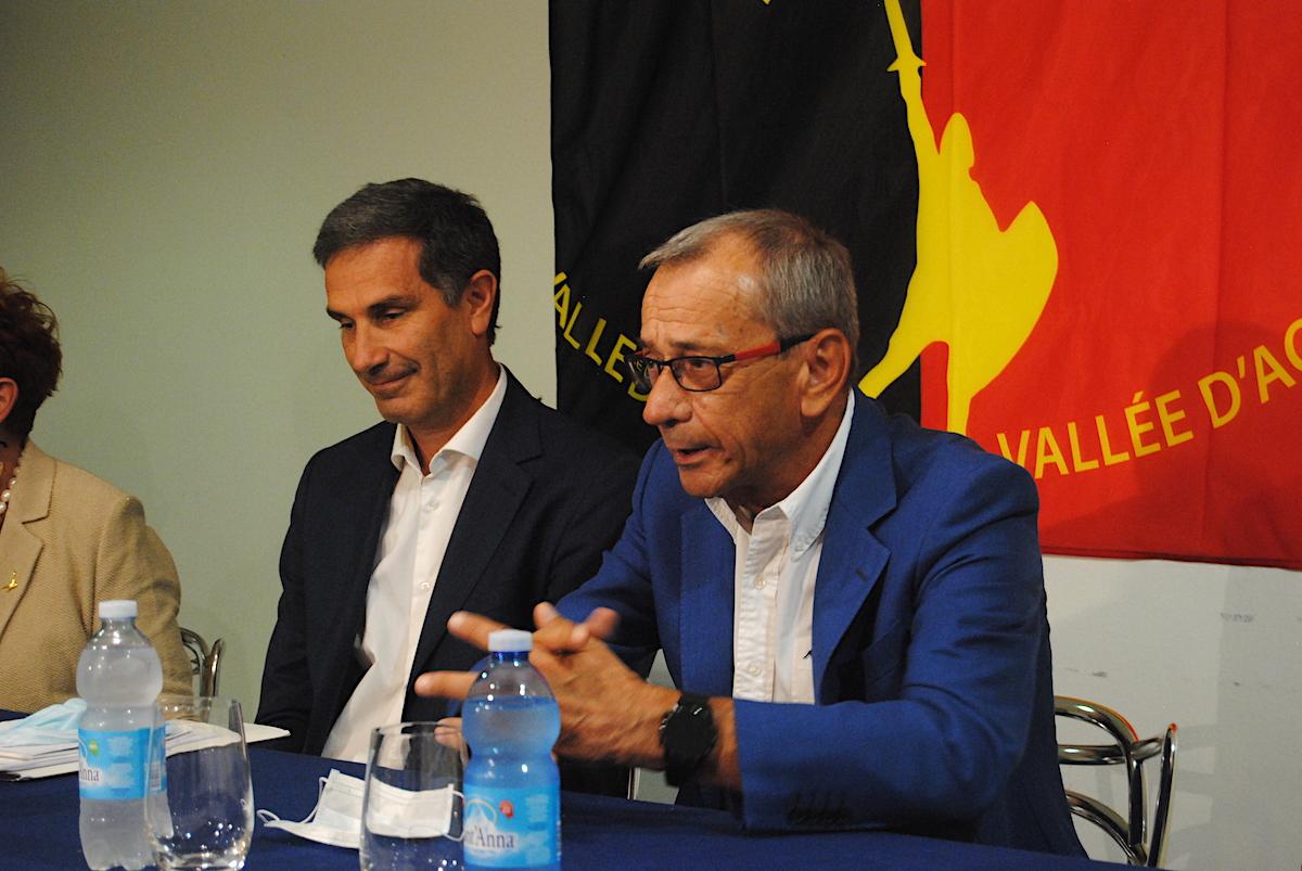 Il candidato Sindaco della Lega Sergio Togni ed il Vice Bruno Giordano