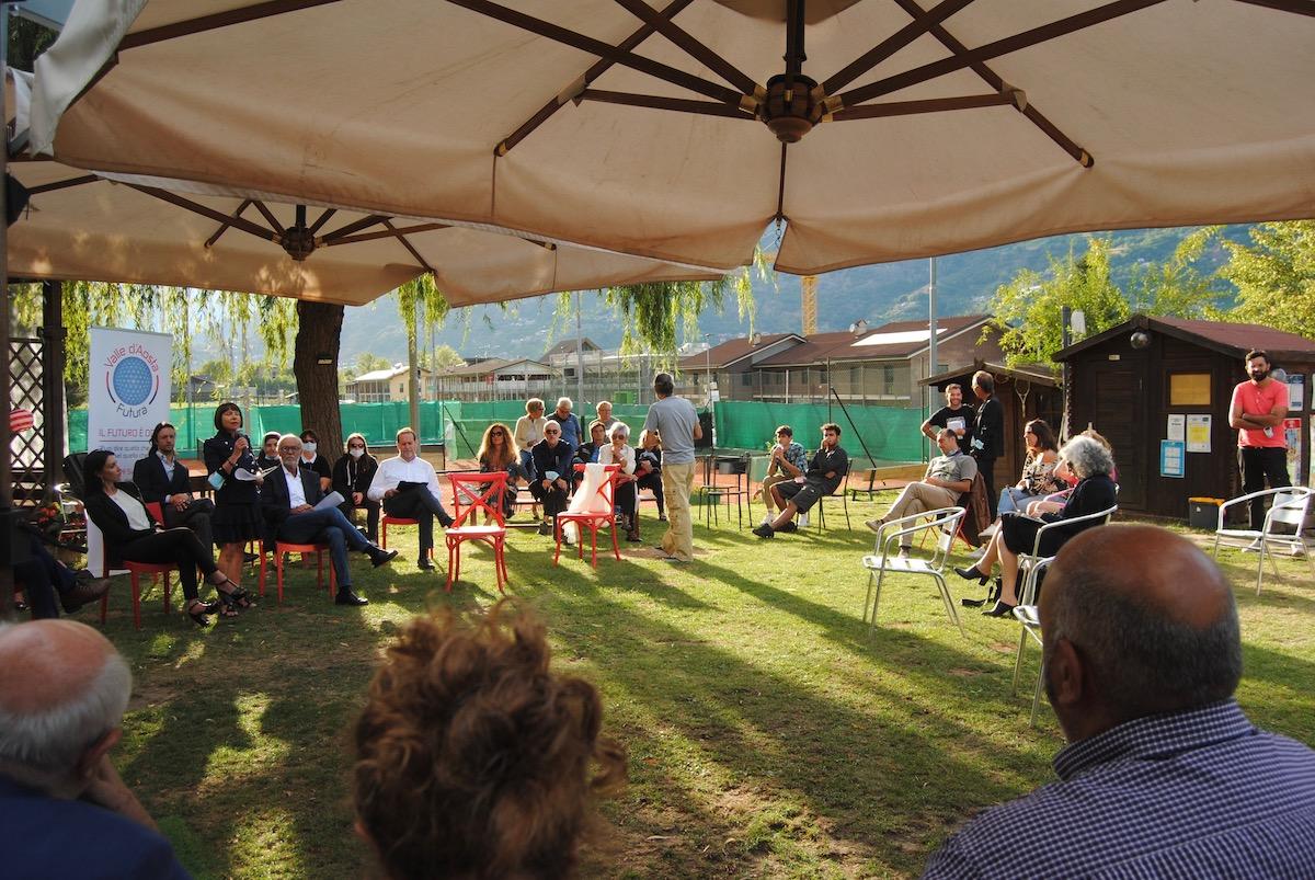 La presentazione di Valle d'Aosta Futura