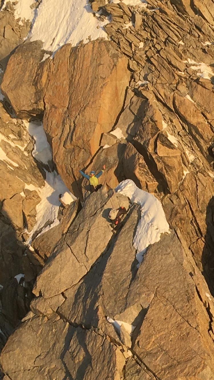 Gli alpinisti recuperati al Pilone Centrale del Freney
