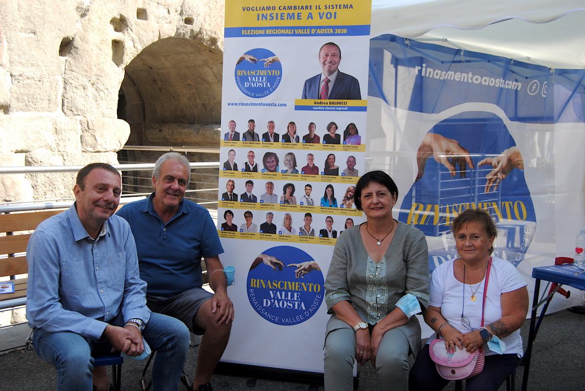 Balducci, Garbarino, Pramotton e Campana, candidati alle Regionali per Rinascimento VdA