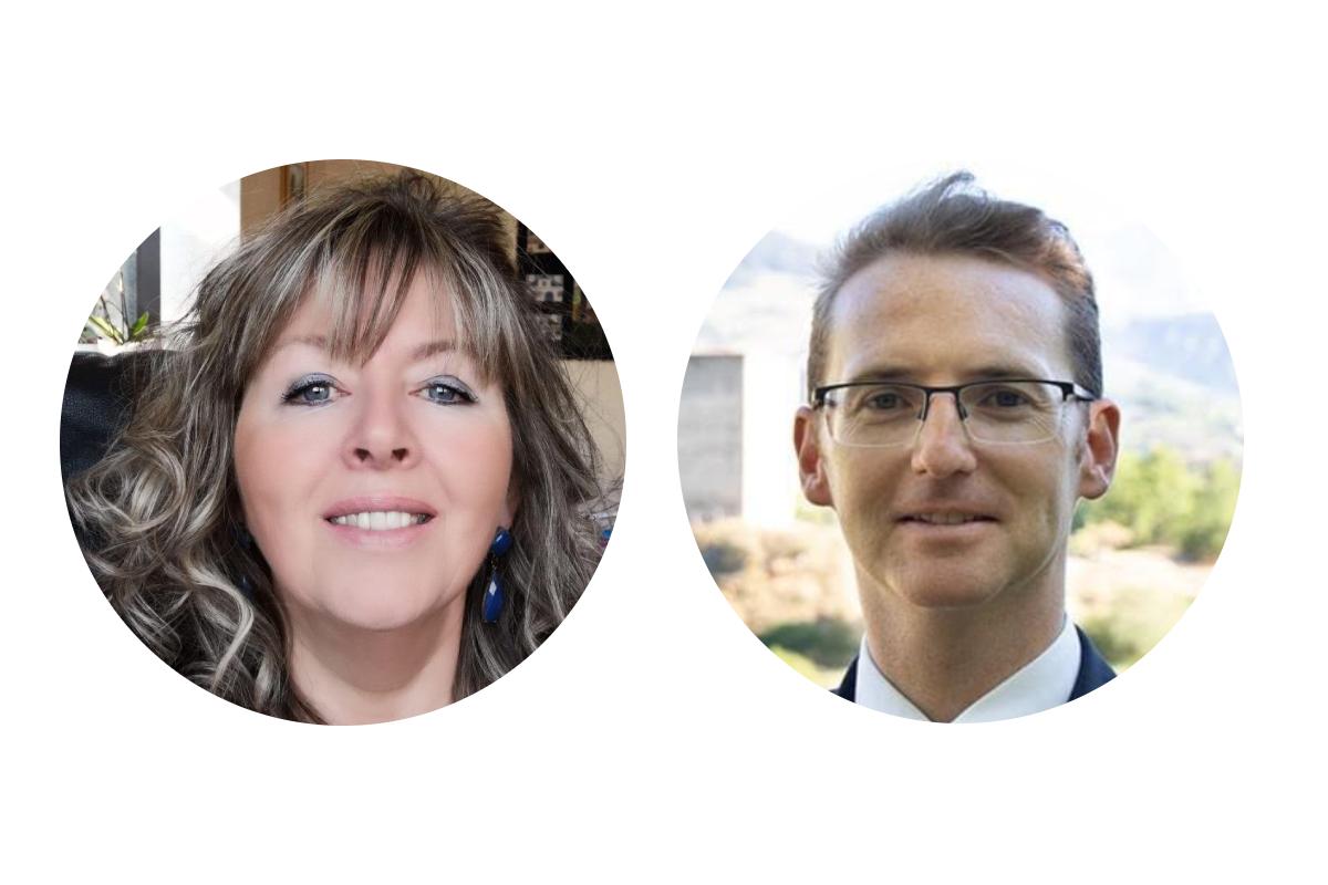 I candidati alla carica di Sindaco di Gignod Gabriella Farcoz e Joël Farcoz