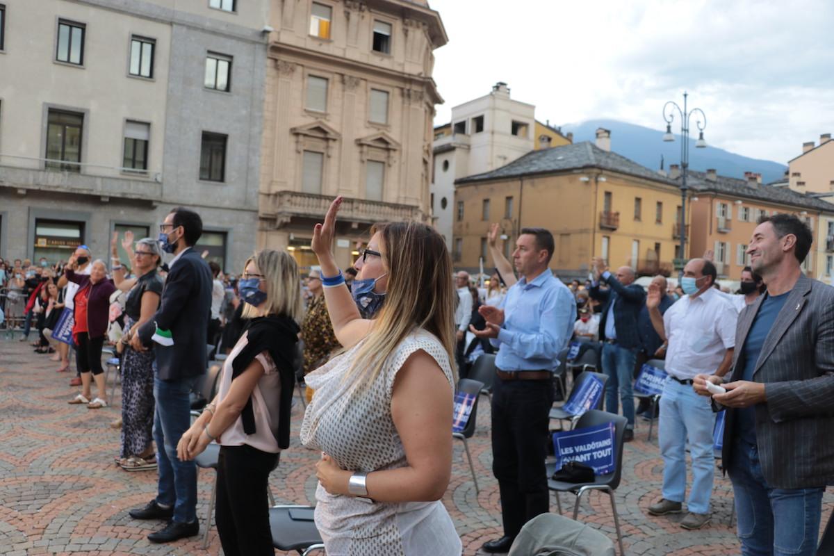Matteo Salvini ad Aosta