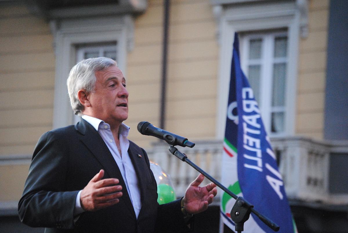 Il Vicepresidente di Forza Italia Antonio Tajani