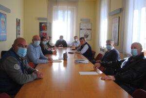 L'incontro tra la delegazione Uv e quella della Stella Alpina