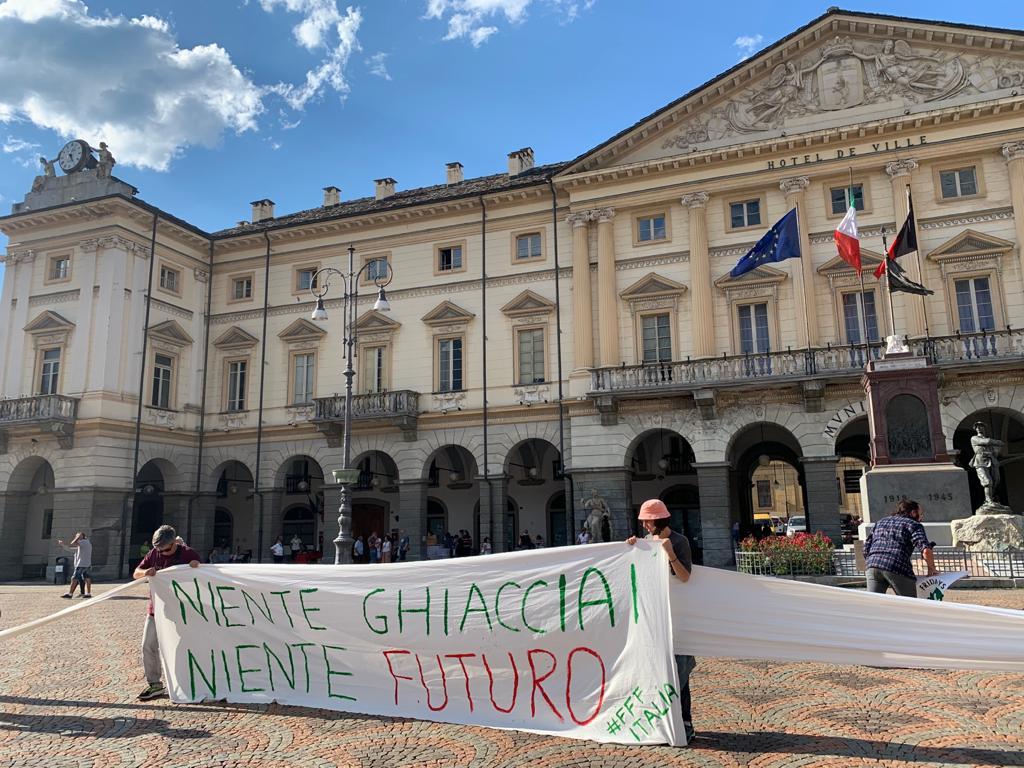 L'azione di Fridays for Future ad Aosta