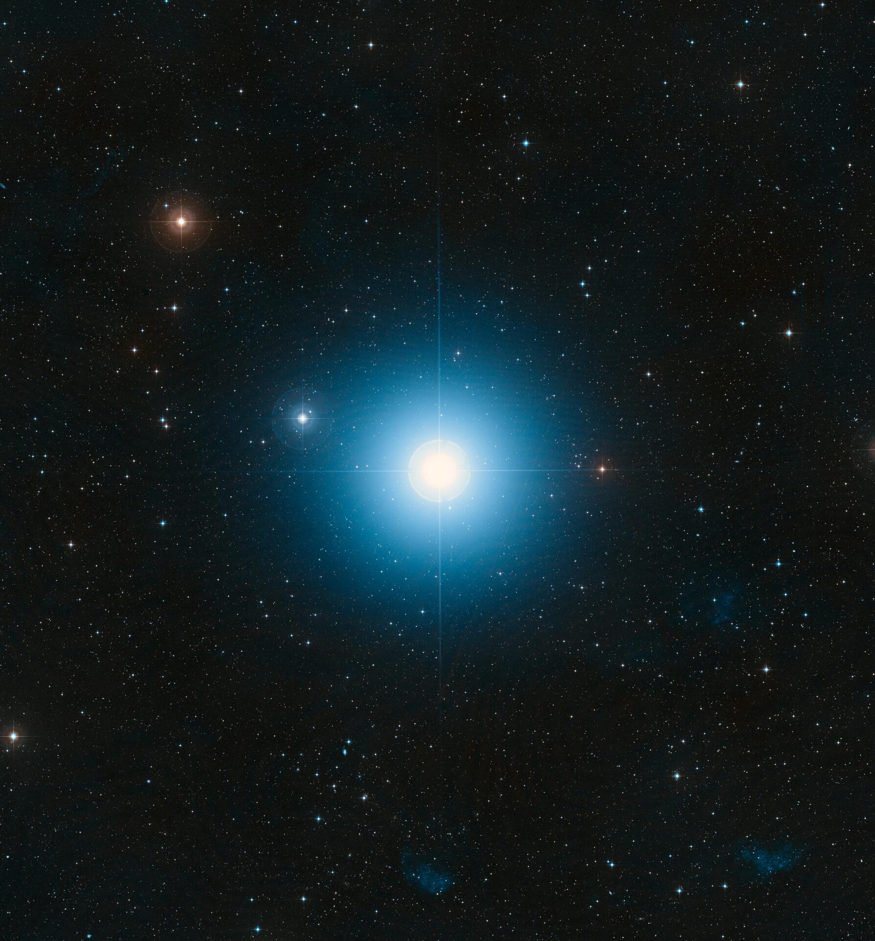La stella Fomalhaut, nella costellazione del Pesce Australe Fonte: NASA, ESA, and the Digitized Sky Survey 2. Acknowledgment: Davide De Martin (ESA/Hubble) https://www.spacetelescope.org/images/heic0821f/