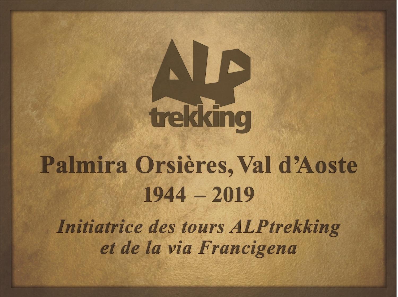 Alptrekking Plaque commemorative PalmiraOrsieres