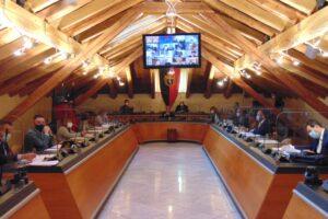 Il Consiglio comunale di Aosta foto Twitter Città di Aosta
