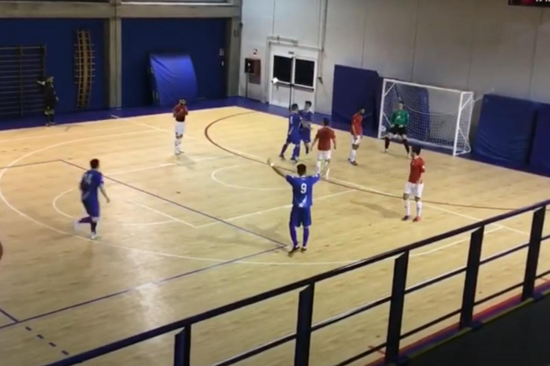 Saints Pagnano Aosta il gol di Fea