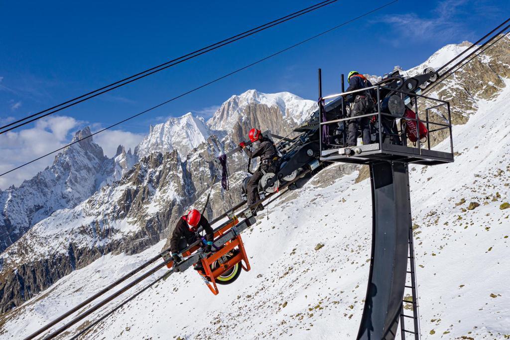 Skyway Monte Bianco manutenzione