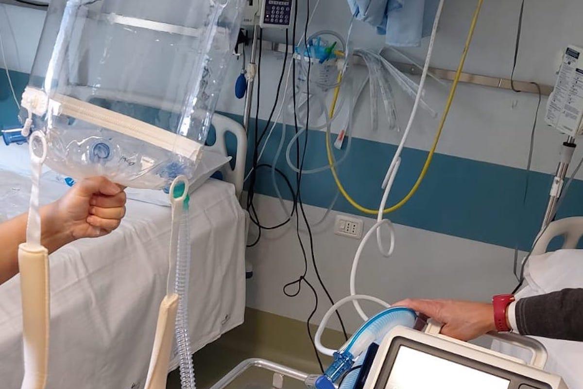 Il ventilatore donato dall'Arev all'Usl