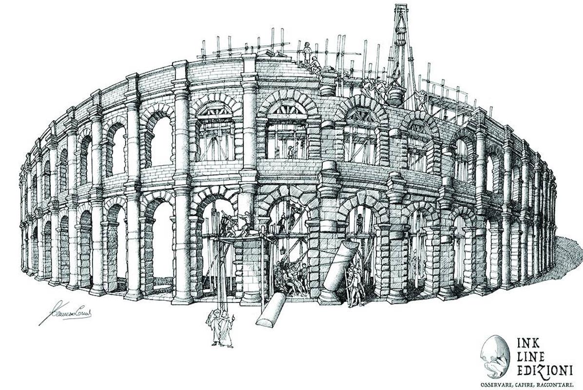 L'anfiteatro romano ricostruito da Corni